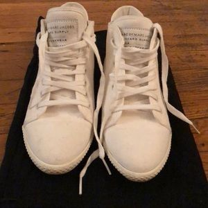 Marc Jacobs white high top sneakers &dust bag!